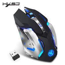 HXSJ M10 kablosuz oyun fare 2400dpi şarj edilebilir 7 renk arka solunum  konfor oyuncu fareleri bilgisayar masaüstü Laptop için gamer mice gaming  mousewireless gaming mouse - AliExpress