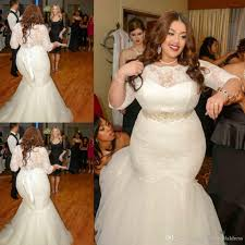 custom made 2016 place wedding dresses big size sheer crew neck 1