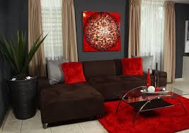 Red decoration for living room. Love it. https://www.facebook
