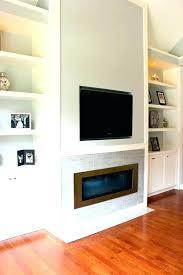 fireplace below tv gas console
