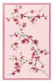 sakura cherry blossom area rug in pink