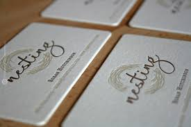 Nesting Llcs Letter Pressed Business Card By Curious Company