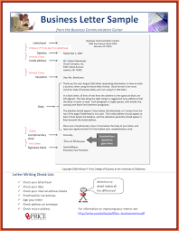 Ideas Collection Business Letter Sample Pdf With Template Sample