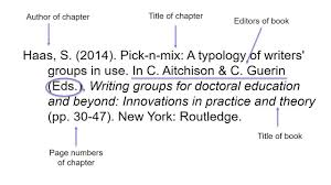 Bibliography Format For Books Apa 6th Referencing Books And Book Chapters