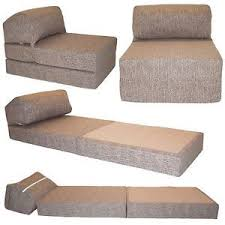 Single Chair Bed Z Guest Fold Out Futon Sofa Chairbed Lounger Matress foam  Gilda | Cotton, eBay and Dorm