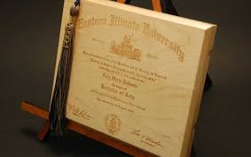 laser engraved wood college diploma laser etched wooden diploma