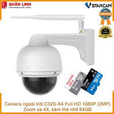 Camera giám sát IP Wifi hồng ngoại ngoài trời zoom xa 4X Full HD 1080P 2MP  Vstarcam C32s-X4 kèm thẻ nhớ 64GB, giá chỉ 1,890,000đ! Mua ngay kẻo hết!