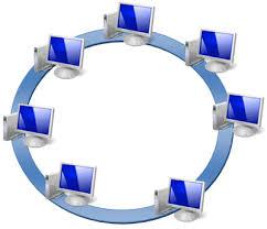 Локальные компьютерные сети При кольцевой топологии данные передаются от одного компьютера другому по эстафете рис 2 Если некоторый компьютер получает данные предназначенные не