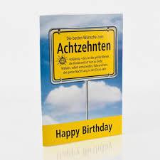 Grußkarte Zum 18 Geburtstag Mit Schönem Spruch Und Einem