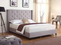 Modern Grey Tufted Bed