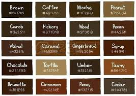 Skin Tone Chart With Names Brown Hair Color Shades For Olive Skin Tan Colors Of Chart