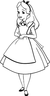 Small Picture Lovely Alice In Wonderland Coloring Pages Alice In Wonderland