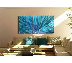 blue aurora xl extra large blue purple green fusion contemporary metal wall art by jon allen by jon allen 84 x 36  on extra large wall art teal with blue aurora xl extra large blue purple green fusion