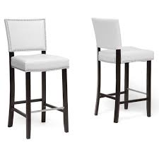 amazoncom baxton studio aries modern bar stool with nail head