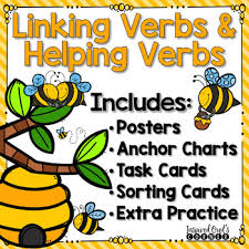 Helping Verbs Anchor Chart Worksheets Teaching Resources Tpt