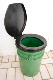 prefab bucket toilet lid camping