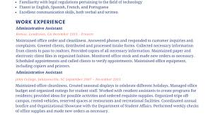 Resume Best Resume For Executive Assistant Amazing