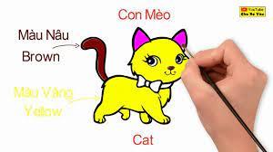 Bé học tiếng Anh qua hình ảnh | Vẽ con Mèo