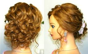 Prom Wedding Hairstyle Curly Updo For Long Medium Hair Tutorial