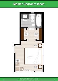 long and narrow master bedroom layout with a seating area 2 walk in closets for him and for her and en suite bathroom