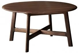 gallery madrid walnut round coffee table