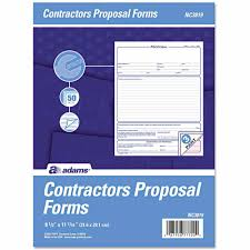 adams business forms contractor proposal forms 3 part carbonless adams business forms contractor proposal forms 3 part carbonless 50ct walmart com