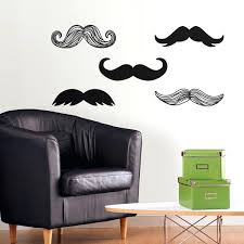 Mustache Wall Decals Also Wall Decals For Bedroom Cheap Zgd