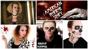 american horror story makeup tutorial tate langdon hypodermic sally you