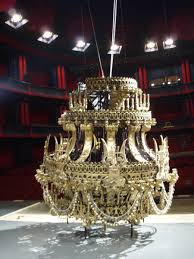 the falling chandelier exactly as the name implies this is a chandelier or any dangling overhead object that for wver reason falls this can be