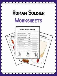 Roman 3 Roman Soldier Facts Worksheets Kids Study Resource