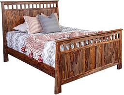 Porter Designs Kalispell Solid Sheesham Wood Bed ... - Amazon.com