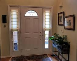front door curtains. SOFT FOLDED SHADE For Side Light Front Door (fabric Included) Curtains C