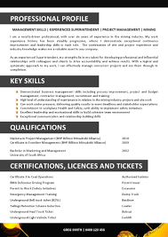 Mining Resume Example Manager Sample Job Australian Examples Vozmitut