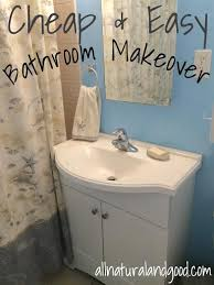 cheap bathroom makeover. Unique Makeover Cheap U0026 Easy Bathroom Makeover Inside