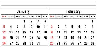 February 2020 Calendar Template Printable January And February 2020 Calendar In Microsoft Word Formats