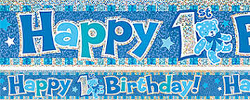 1st birthday banner 1st birthday banners party delights