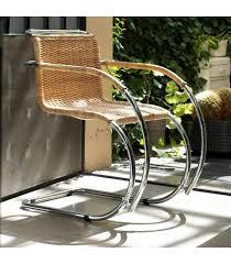 riedizione sedia mr chair di ludwig mies van der rohe in cuoio o rattan con o
