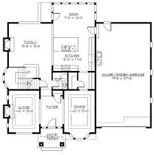 4 car garage house plans. 4 Car Tandem Garage - 2369JD Floor Plan Main Level House Plans E