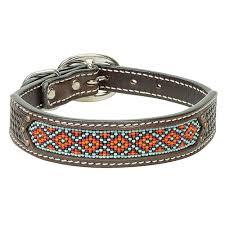 Weaver <b>Leather</b> Beaded Basket <b>Weave Dog Collar</b>: Coolhorse
