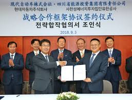 hyundai motor signs mou with sichuan energy industry to cooperate on mercial vehicle business