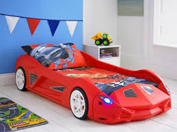 image of race car twin bed