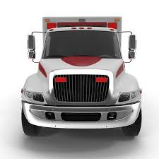 car white background front. Fine Car Emergency Ambulance Car Isolated On White Background Front View 3D  Illustration Stock  Throughout Car White Background