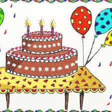 How To Draw A Cake With Face Cartoon Birthday Pop Online Keyboard