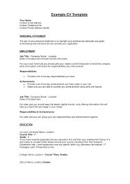 Personal Resume College Resume Personal Statement Examples Fresh Personal 14