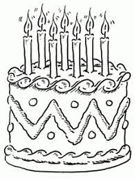 Small Picture Birthday Cake Coloring Page Click on Image to Open up Coloring