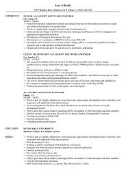 Javascript Resume JavaScript Software Engineer Resume Samples Velvet Jobs 19