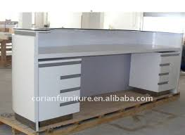 corian and wood made office furniture reception desk of 009 acrylic office furniture
