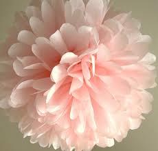 Pom Pom Decorations Light Pink Tissue Pom Pom Wedding Decoration Bridal