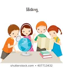 Image result for cartoon kids studying history