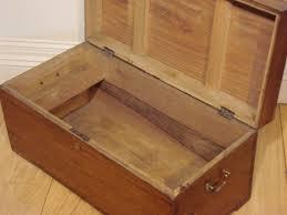 sold 19c camphor wood chest